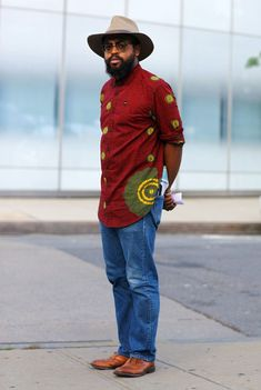 blue jean denim shirt ankara - Google Search
