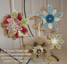 """My """"take"""" on the popular Stampin' Up! Holiday Ornaments"""
