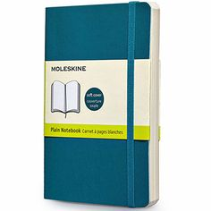 Moleskine Classic Softcover Underwater Blue Large Plain