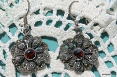 Vintage 925 Sterling Silver Marcasite and Faux by Yourgreatfinds, $39.99