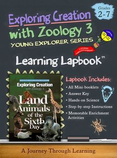 Lapbook for Apologia's Exploring Creation with Zoology 3: Land Animals of the Sixth Day. Project is 14 file folders in size and includes built-in lesson plans. #lapbooks #homeschool