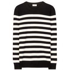 Saint Laurent - Striped cashmere sweater - mytheresa.com, $1150, hand wash