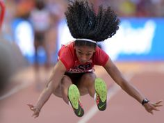 Jasmine Todd of the US jumps 21-4 3/4 feet in the womens long jump qualifying during the IAAF World Championships in Athletics at National Stadium in Beijing.  Kirby Lee-USA TODAY Sports, USA TODAY Sports