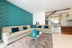 Living Room designed by Knox Design in Villa Cala Mayor