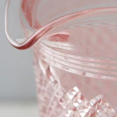 Rose Glass Pitcher/ Accents of Pale pink and rose tones in some of the glassware, and kitchen accessories #LGLimitlessdesign, #Contest