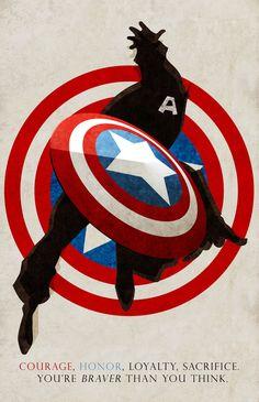 Courage, Honor, Loyalty, Sacrifice - Captain America