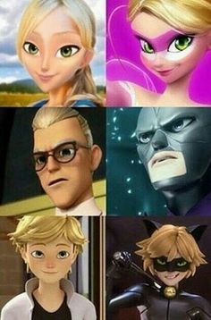 She looks sweet  Gabriel looks mad Adrien looks hot *please explain this madness*