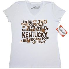 cbba6f638e7035 Inktastic Funny Kentucky Quote Gift Women s V-Neck T-Shirt State Humor Two  Kinds Of People Joke Hometown Home Pride Cities Towns States U.s. Southern  Gifts ...