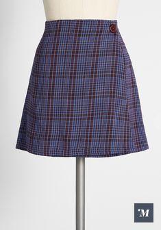 Blue Plaid Skirt, Plaid Skirts, Mini Skirts, Fall Dresses, Fall Outfits, Burlesque Festival, Semi Casual, Fashion Killa, Pleated Skirt