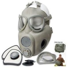 Affordable Gas Mask.  No Prepper should go with out. Military Surplus Czech M10M Gas Mask with Filters