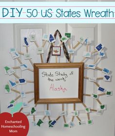 Learn about the 50 states 50 states learning and 50th diy 50 us states wreath sciox Image collections