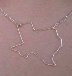 Texas State Necklace by crossedoutcreations on Etsy, $30.00