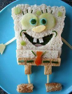 """Op de site staan enkele heel leuke voorbeelden van """"grappige hapjes; zo inspireer je de kinderen wel om te eten..."""