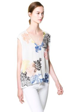 PRINTED T - SHIRT - Tops - Woman | ZARA United States