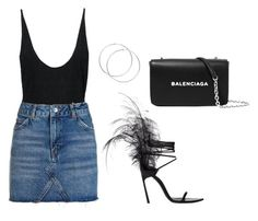 """""""BASICZ"""" by thestylefilesx on Polyvore featuring Yves Saint Laurent, Topshop and Balenciaga"""