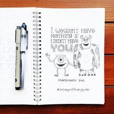Monster's Inc typography | Disney Quotes | © Shannon McNab