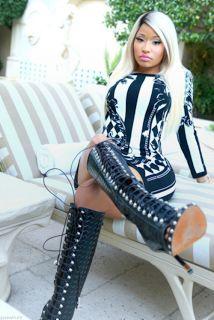 Most Extravagant Nicki Minaj Outfits(with knee high booties)
