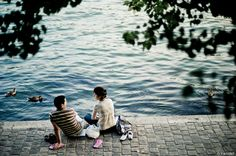 - Couple by the Seine