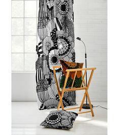 Marimekko Shower Curtain, Ikea, Shelves, House Design, Curtains, Blanket, Living Room, Fabric, Design Ideas