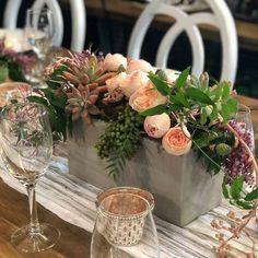 Unique Table Arrangment in concrete vase Floral Wedding, Wedding Flowers, Dish Garden, Order Flowers Online, Sympathy Flowers, Vase Arrangements, Gerbera, Flower Delivery, Orchids