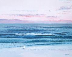 Ocean Painting Beach Decor Beach Painting canvas by JanMatsonArt #Beach #beachdecor #ocean