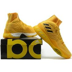 buy popular 3bd4f 2503f adidas Crazy Explosive 2017 Primeknit Eqt Yellow and Black Gold For Sale