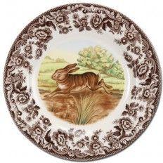 "Spode Woodland Rabbit 8"" Salad Plate"