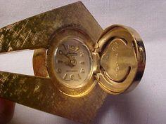 Vintage LUCERNE Pendant Watch - Unusual Hinged Style