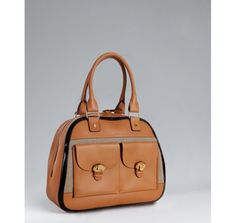 Chloe natural leather and linen 'Billie' top handle bag