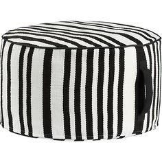 Stripe Woven Pouf