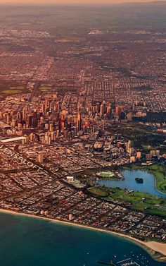 Melbourne still expanding and consuming fertile farmland and creating lengthening clogged highways. Perth, Brisbane, Melbourne Australia, Australia Travel, Places In Melbourne, Melbourne Travel, Melbourne Victoria, Victoria Australia, City Skylines