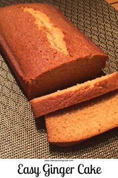Easy Sticky Ginger Cake- such an easy recipe for ginger cake, which only requires one egg. Foolproof recipe, works every time to make soft, moist, sticky ginger loaf cake made with golden syrup. Cake Recipes Ginger, Ginger Loaf Cake, Sticky Ginger Cake, Easy Cake Recipes, Baking Recipes, Sweet Recipes, Dessert Recipes, Loaf Tin Recipes, Apple Cake Recipes