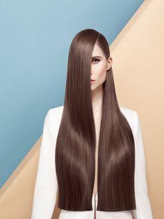 Long Blunt Hair, Long Hair With Bangs, Medium Brown Hair Color, Medium Long Hair, Why Hair Loss, Brown Hair Shades, Long Hair Models, Hair Photography, Editorial Hair