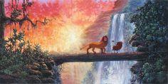 """""""Hakuna Matata"""" by Rodel Gonzalez for Disney Fine Art"""