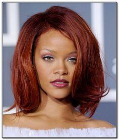 Dark Red Hair Color On Dark Skin in Hairstyles