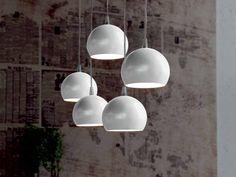 Lampada a sospensione in acciaio ECLIPSE by Cattelan Italia | design Philip Jackson
