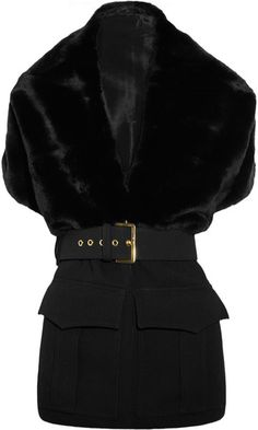 MARNI Belted Rabbit and Wool Stole
