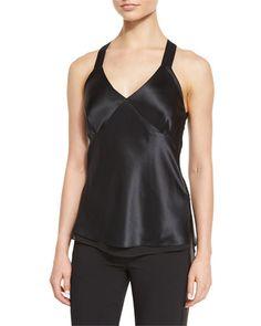 RAG & BONE Ruby Silk Satin Camisole, Black. #ragbone #cloth #