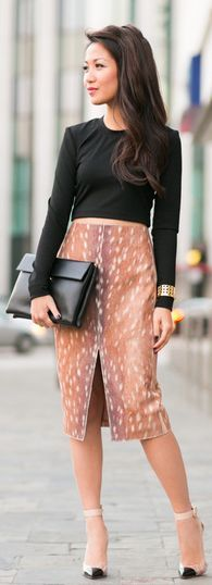 Power Piece : #statement #skirt & #transparent #pumps by Wendy's Lookbook