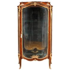 French Ormolu-Mounted Tulipwood Vitrine by Francois Linke | From a unique collection of antique and modern vitrines at https://www.1stdibs.com/furniture/storage-case-pieces/vitrines/
