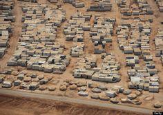 Fotos aéreas de un campo de refugiados sirios: así viven en Zaatari 160.000 desplazados por la guerra