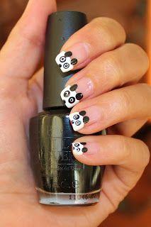 Simple Nail Art for Newbies: Panda Bear Nails