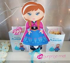 Cute Anna decoration at a Frozen birthday party! See more party planning ideas at CatchMyParty.com!