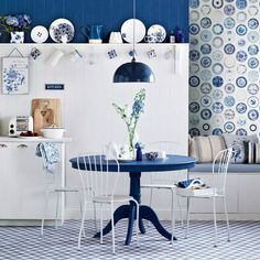 small dining room -- this post has lots of pictures that could be dinette or dining room ideas