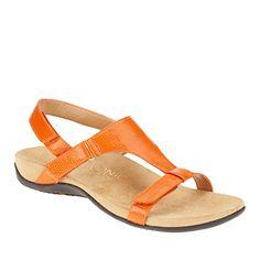 1e922b11c76e8 Vionic Giorgina Women US 5 Black Slingback Sandal