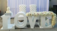 What better way to say I love you with this Beautiful Love Table - for the Bride and Groom. #bride #groom #lovetable