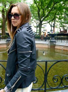 spiked moto jacket