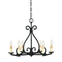 World Imports Rennes 6 Light Chandelier in Rust Finish - WI6181742