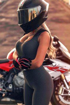 Super Hot Biker Girl in a Her Cool AGV Pista GP R Motorcycle Helmet Carbon Fiber Motorcycle Helmet, Womens Motorcycle Helmets, Fille Et Dirt Bike, Monster Energy Girls, Mädchen In Bikinis, Dirt Bike Girl, Bike Photography, Motorbike Girl, Husqvarna