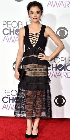 See All the Best Looks from the 2016 People's Choice Awards Red Carpet - Lucy Hale - from InStyle.com